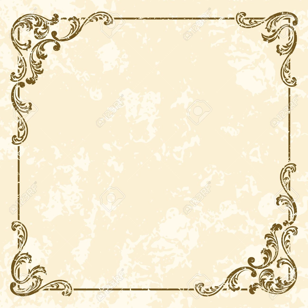grungy sepia tone frame inspired by victorian era designs