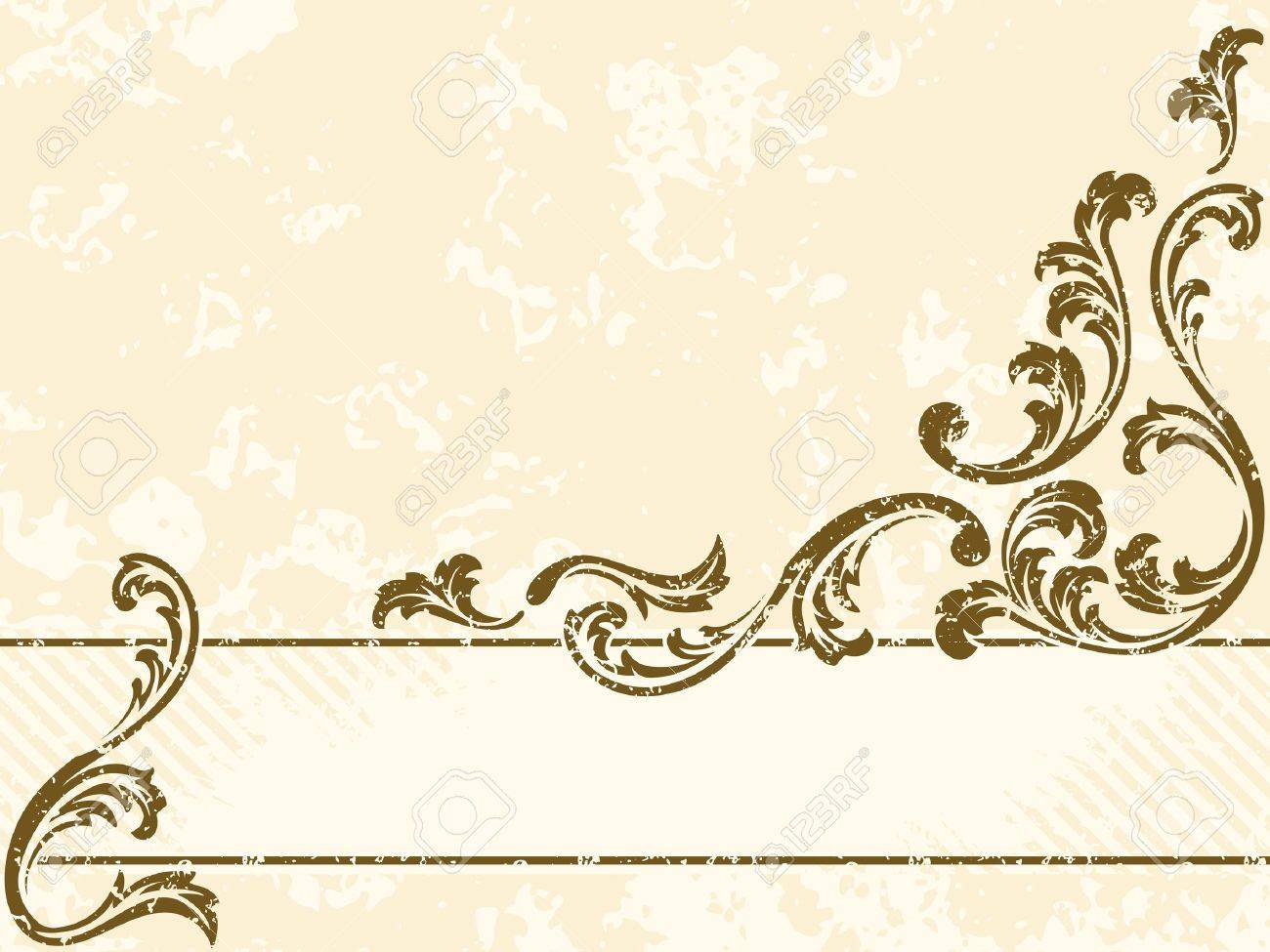 horizontal grungy sepia tone banner inspired by victorian era