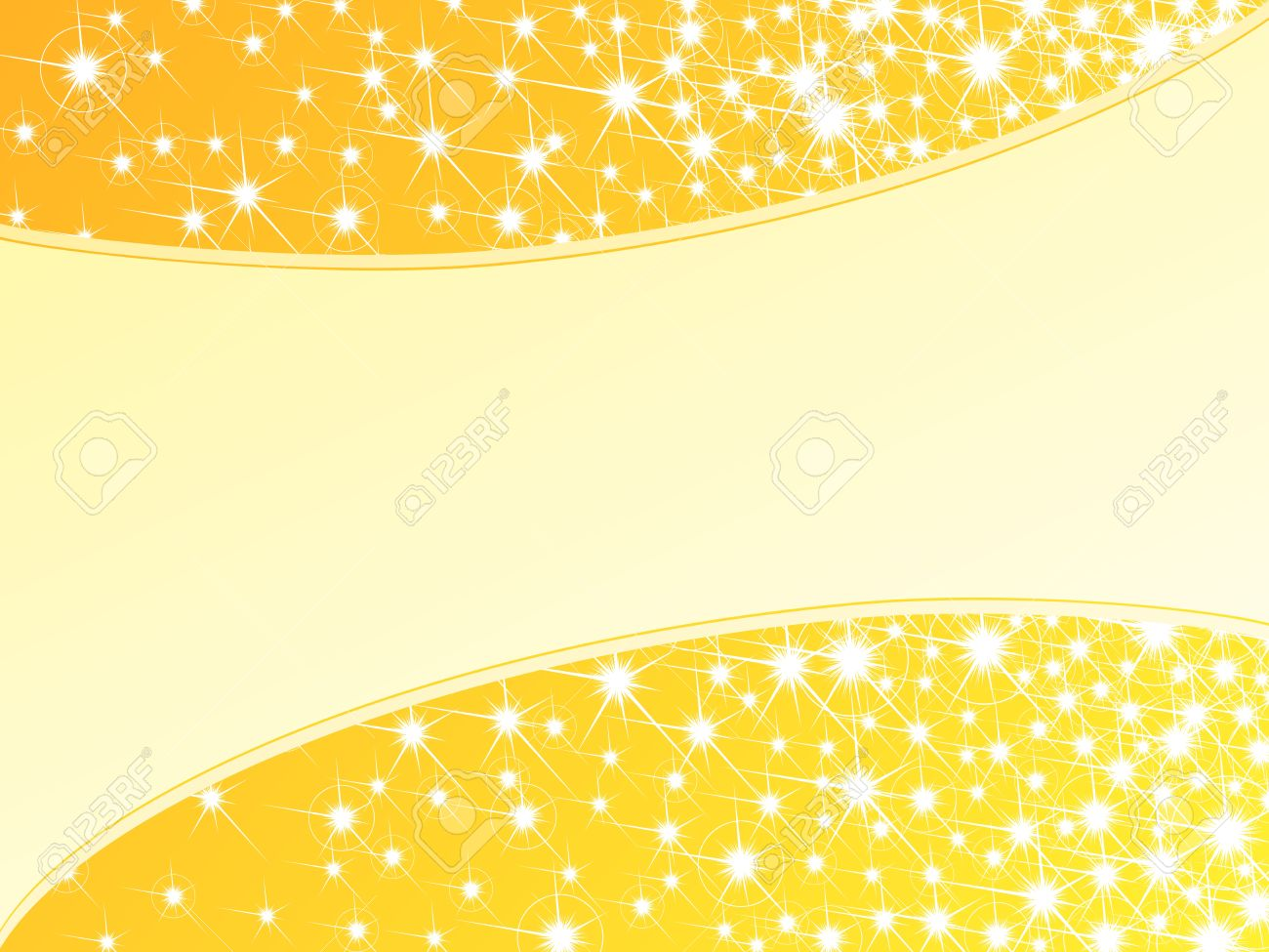 Glossy bright yellow background with a sparkly frame. Graphics are grouped and in several layers for easy editing. The file can be scaled to any size. Stock Vector - 6039329