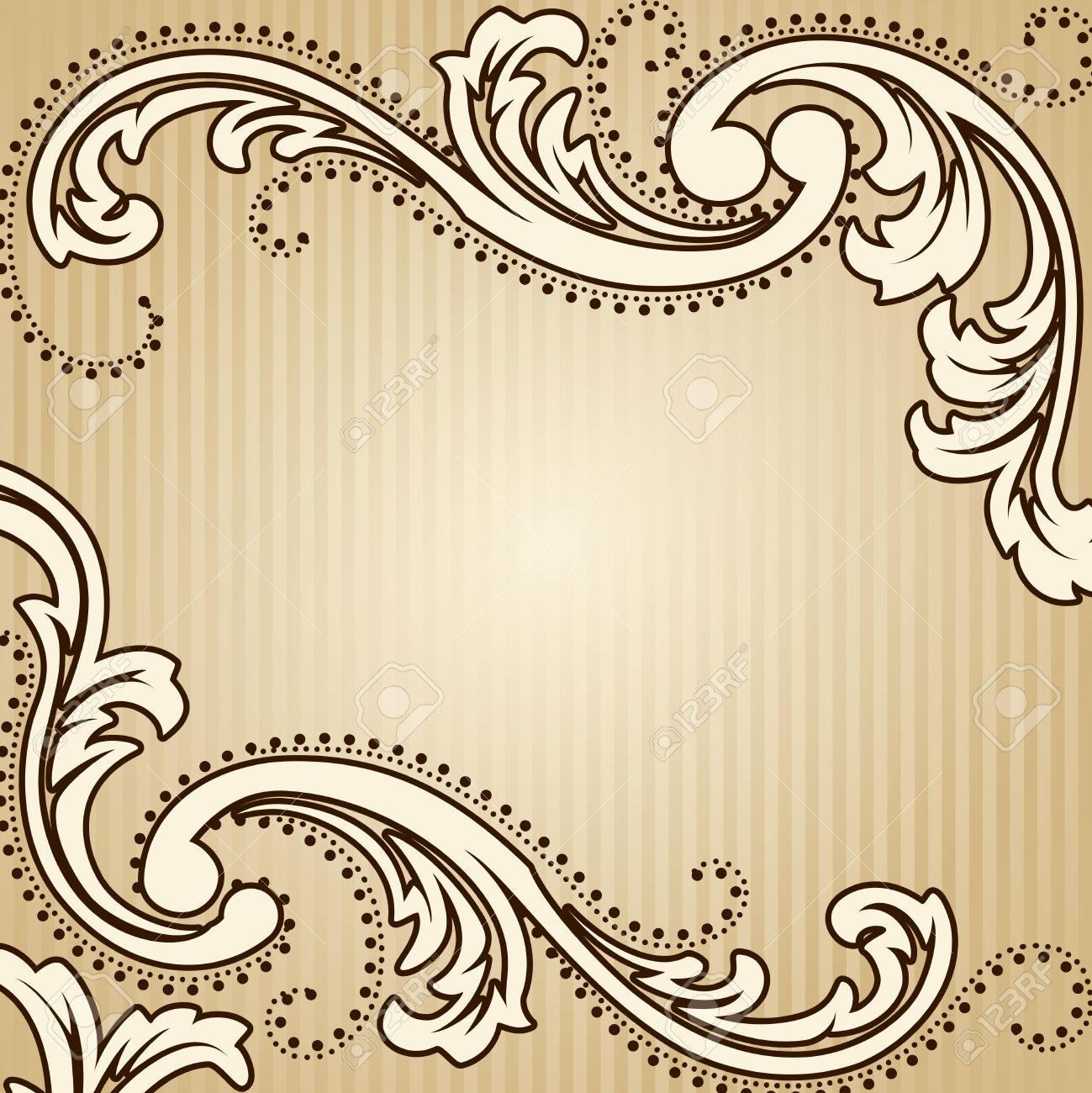 Elegant Square Sepia Tone Background Inspired By Victorian Era