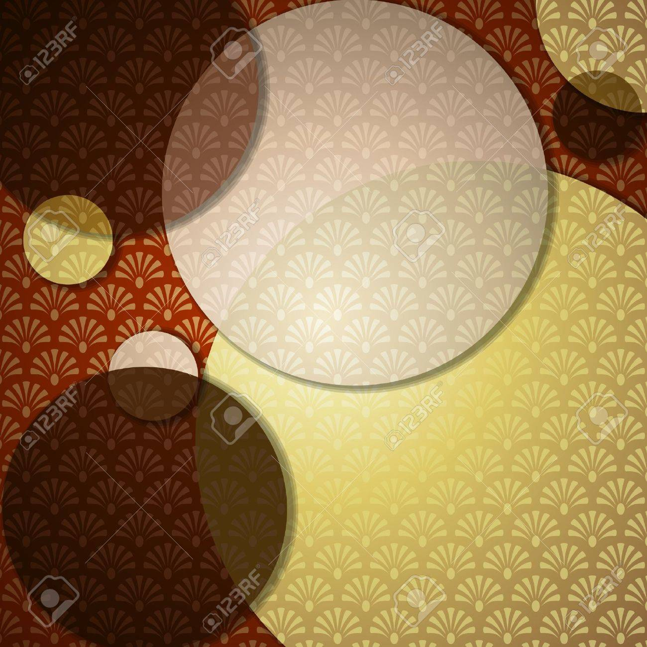 Elegant patterned background in warm brown tones. Graphics are grouped and in several layers for easy editing. The file can be scaled to any size. Stock Vector - 9715882
