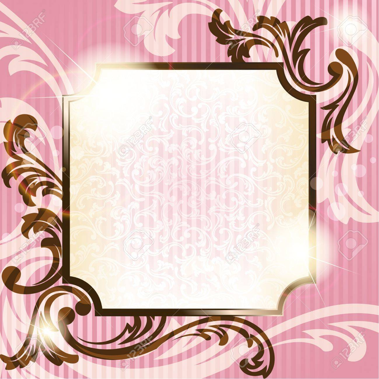 9825522 elegant pink and brown transparent background design inspired by french rococo style graphics are gr