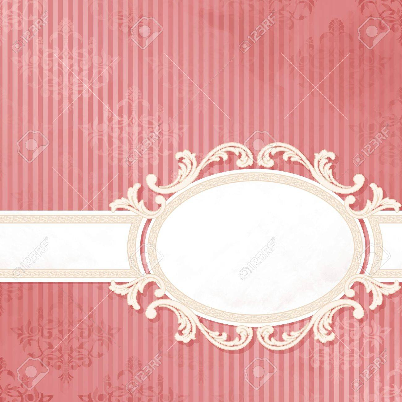 Grungy, intricate  pink and white banner design. Graphics are grouped and in several layers for easy editing. The file can be scaled to any size. Stock Vector - 10312862