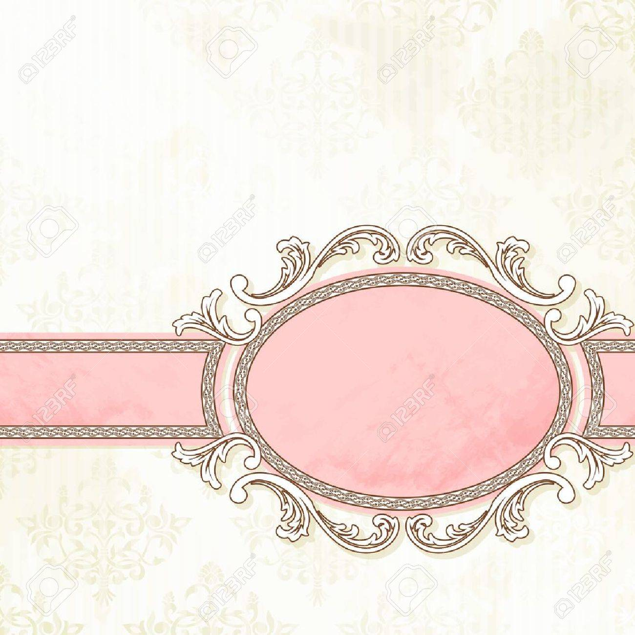 Grungy, intricate  pink and white banner design. Graphics are grouped and in several layers for easy editing. The file can be scaled to any size. Stock Vector - 10312861