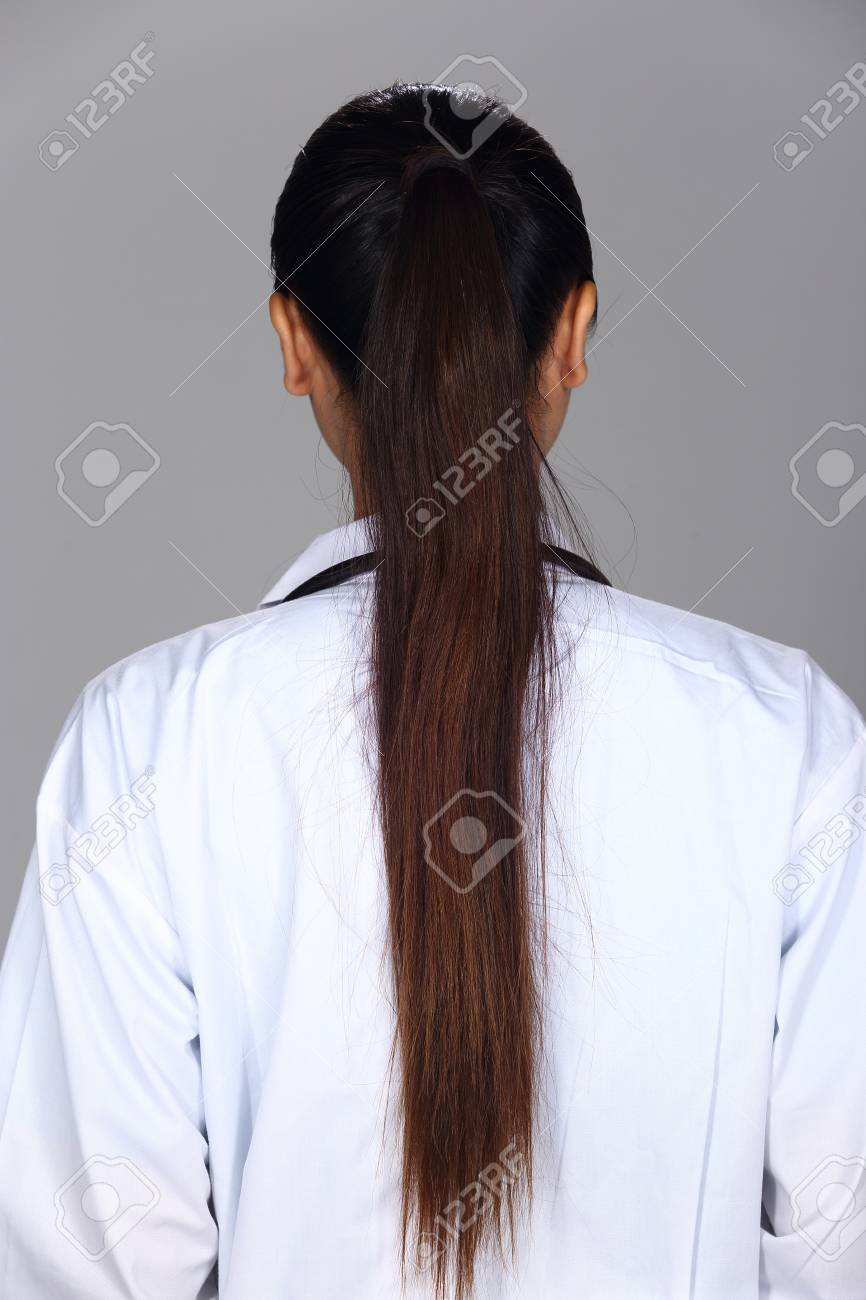 Asian Woman After Applying Make Up Black Hair Style No Retouch