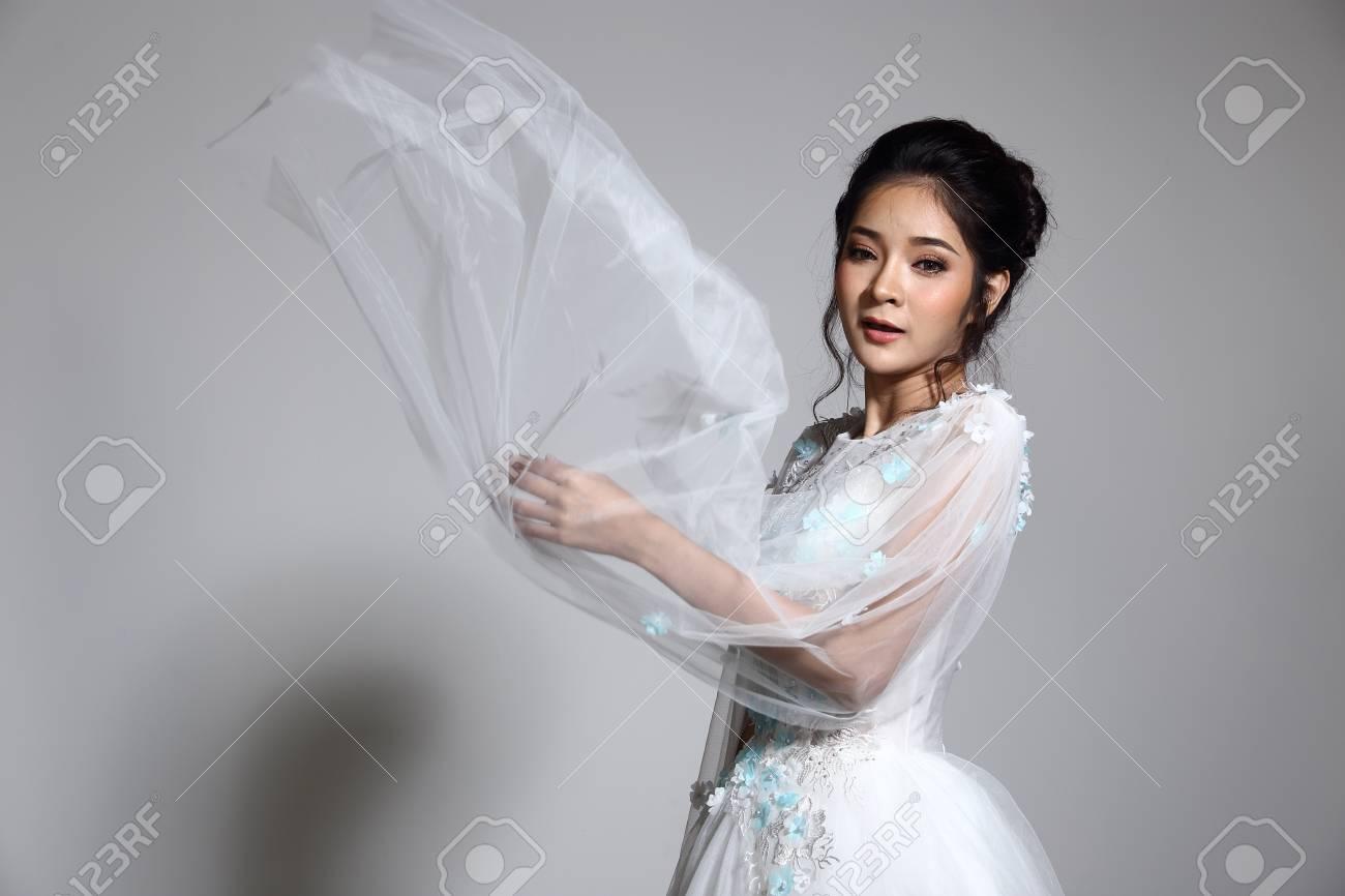Asian lady bride in