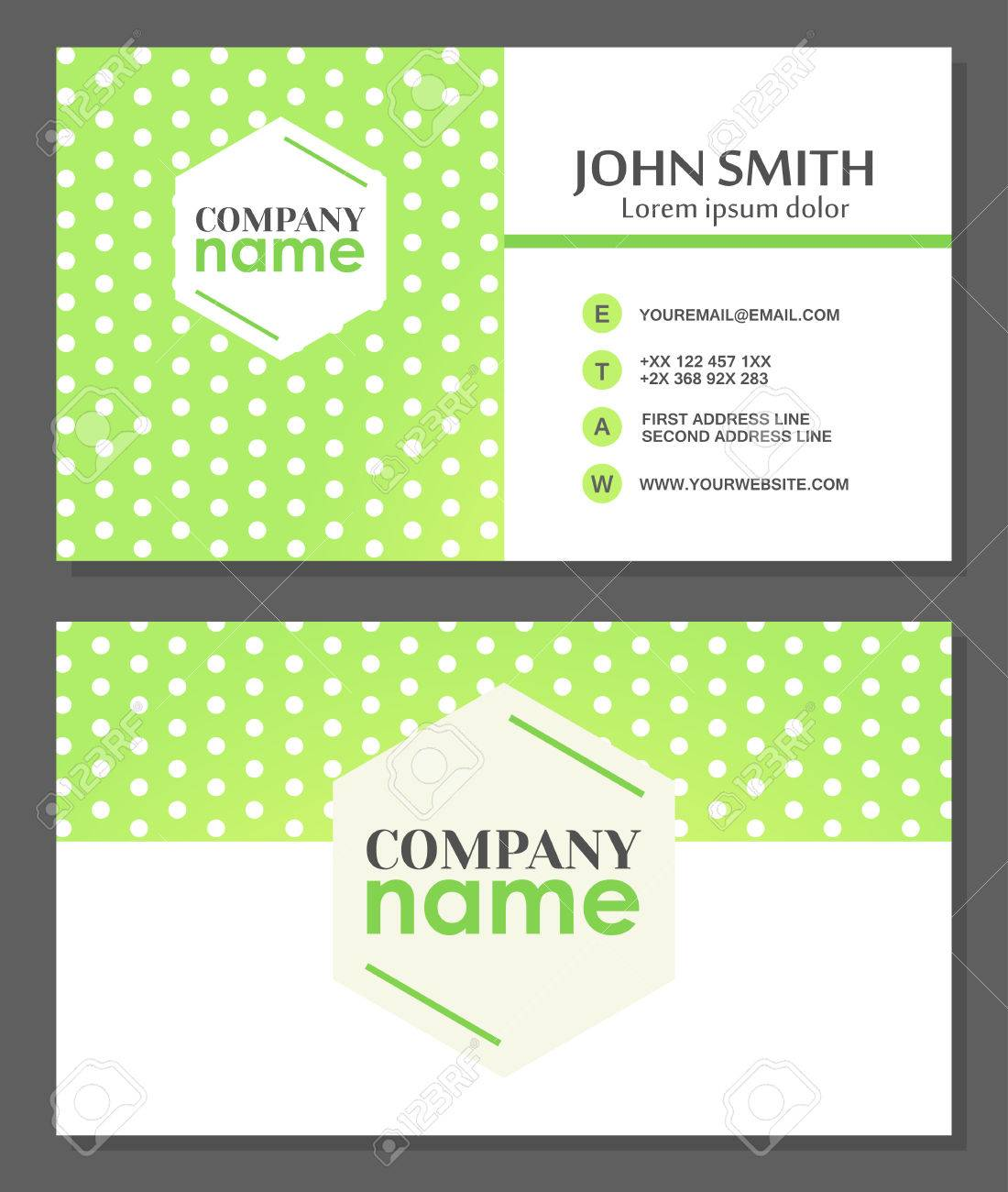 Business card template abstract business card design vector banco de imagens business card template abstract business card design vector illustration reheart Choice Image