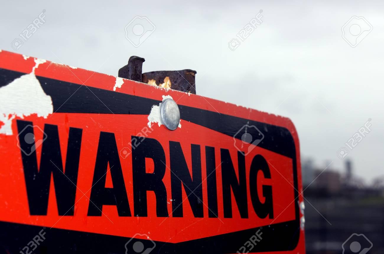 Old Warning Sign Stock Photo - 12402217