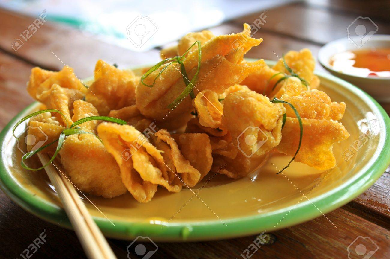 Golden bag is a snack of Thailand Stock Photo - 12003800