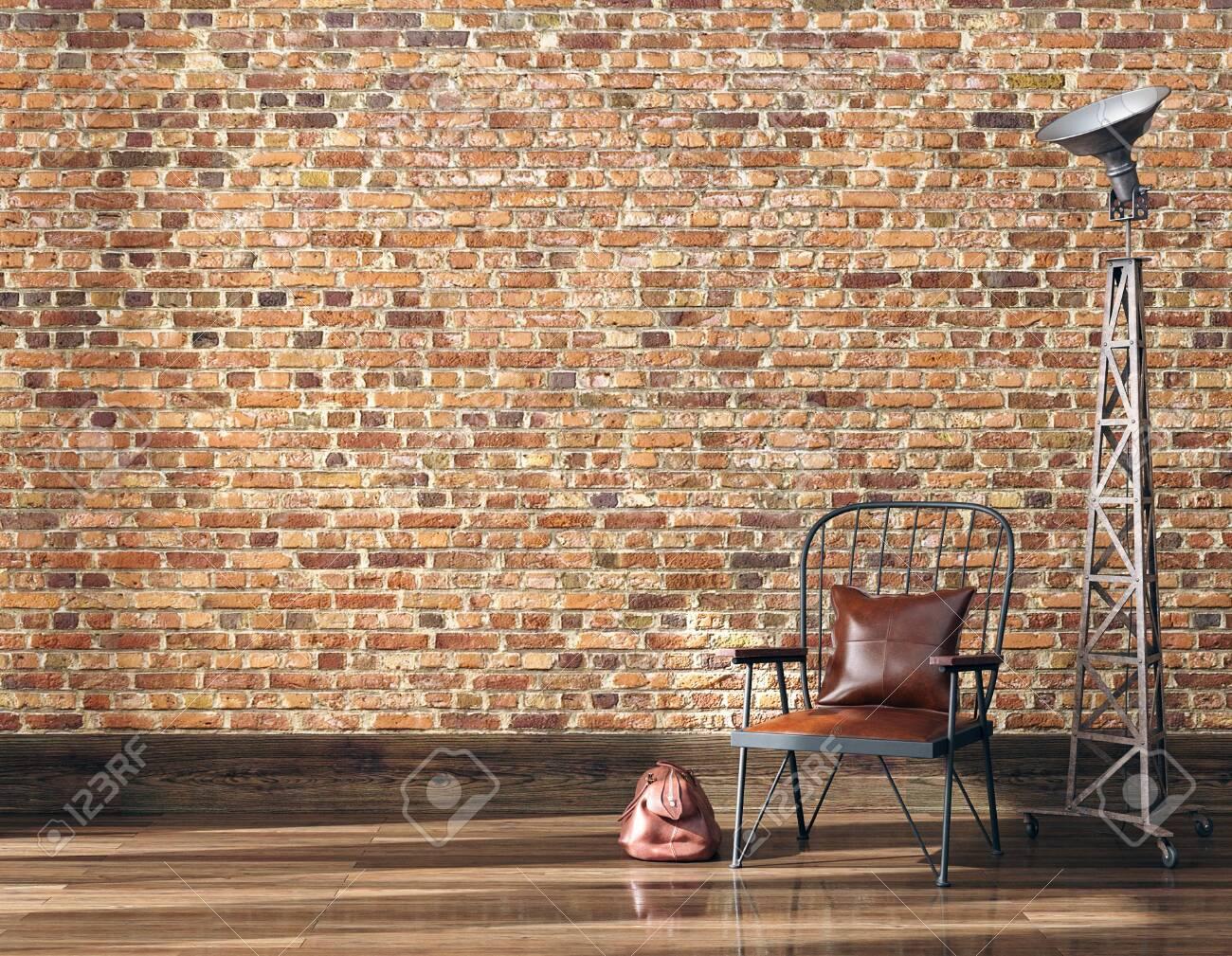 Minimalist industrial interior background, 3d render - 131755990
