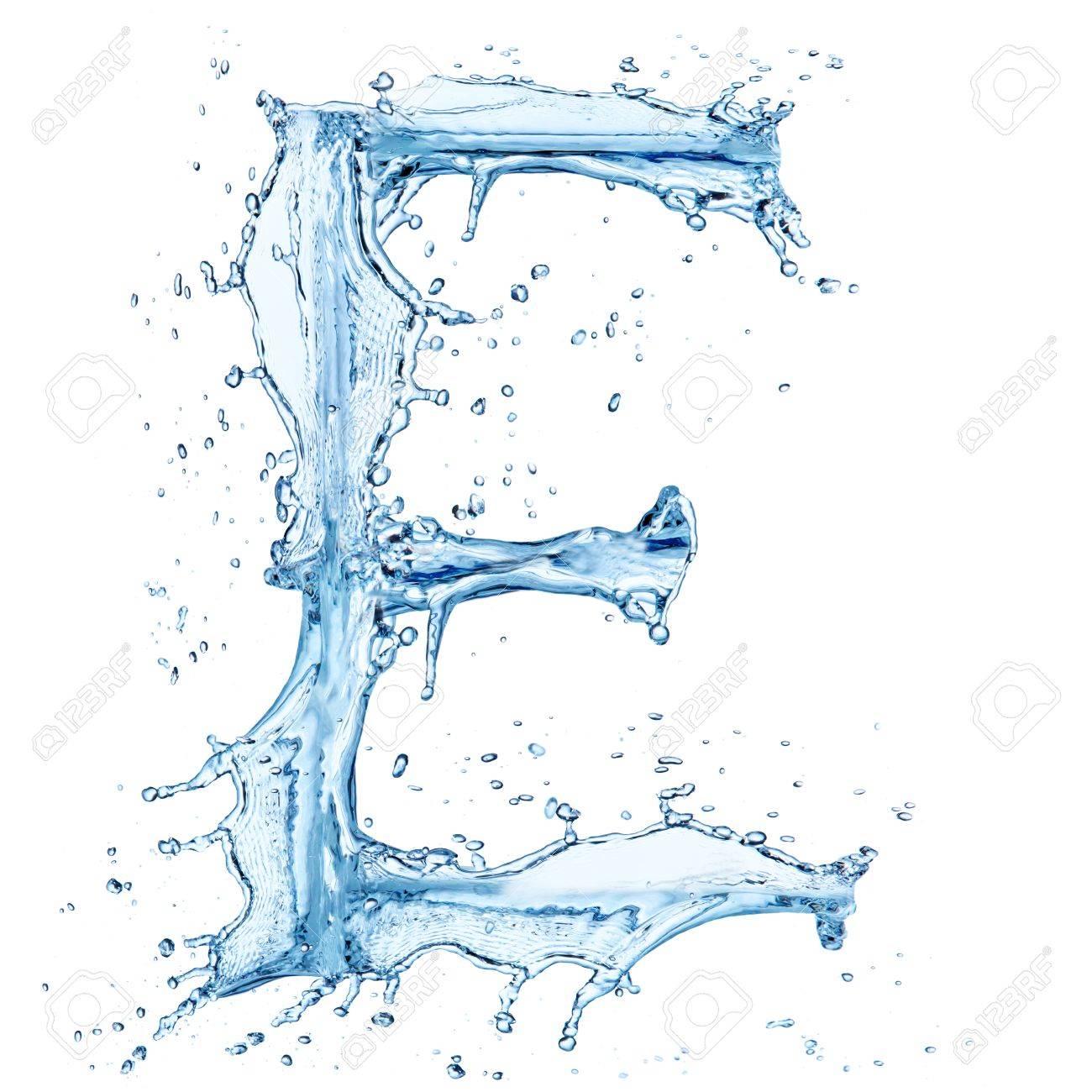 Water splashes letter Stock Photo - 14209316