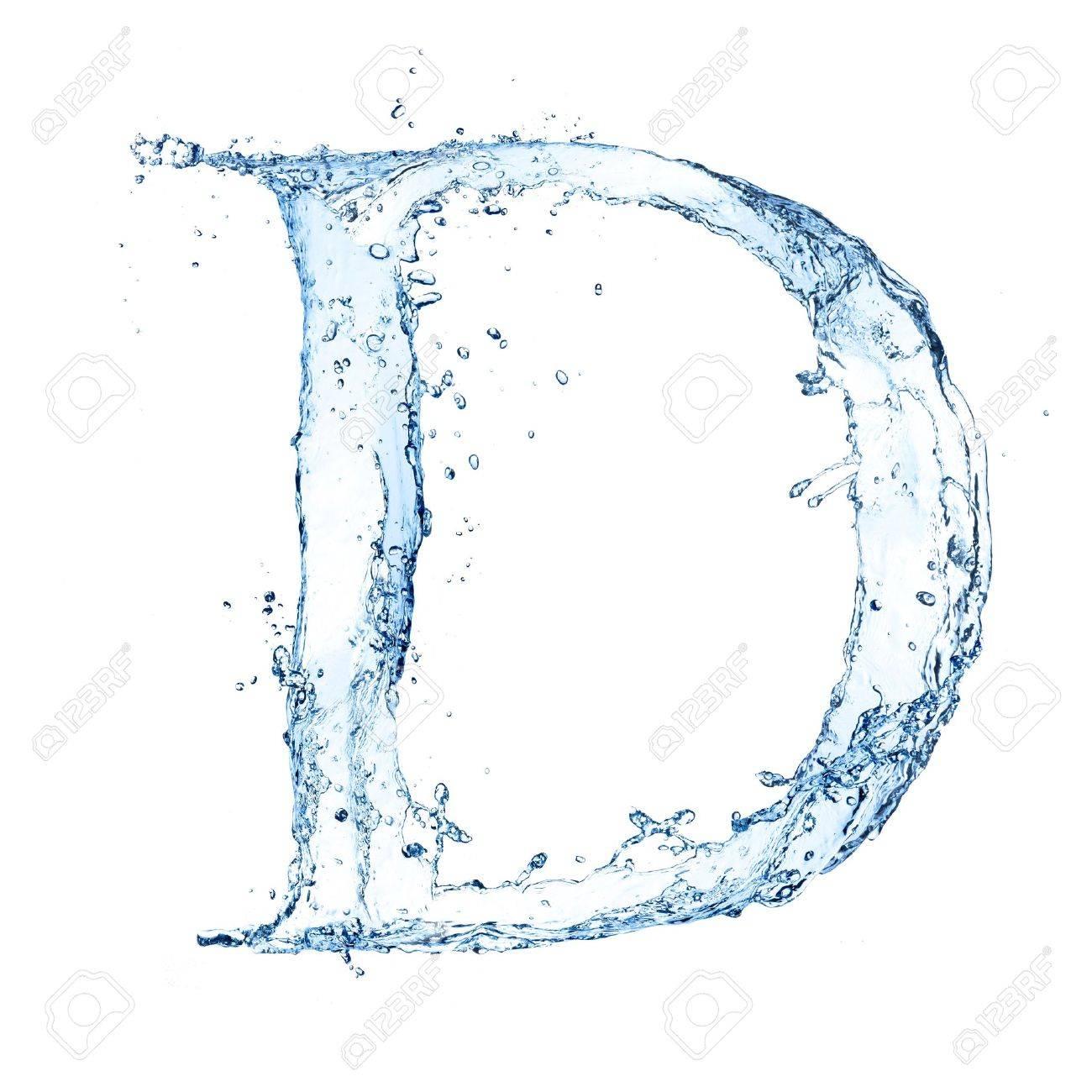 Water splashes letter Stock Photo - 14815635