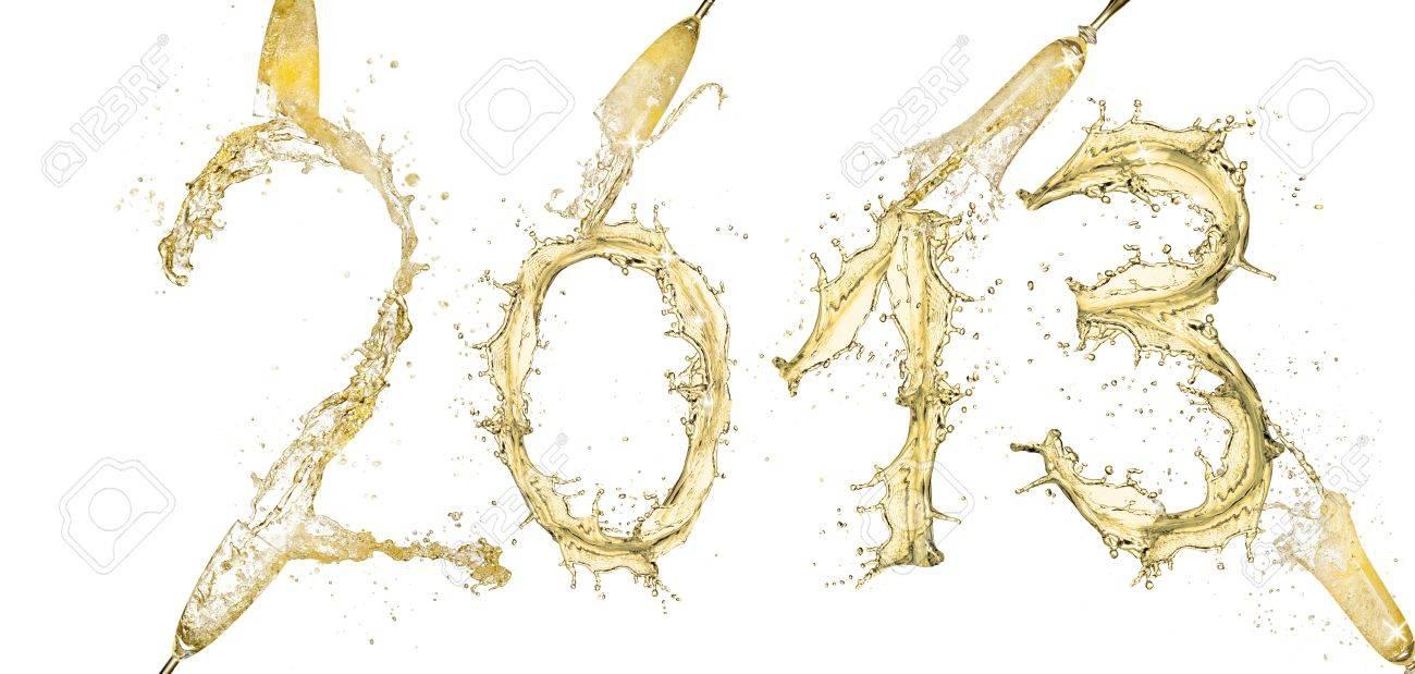 Water splashes number  0  isolated on white background Stock Photo - 14970213