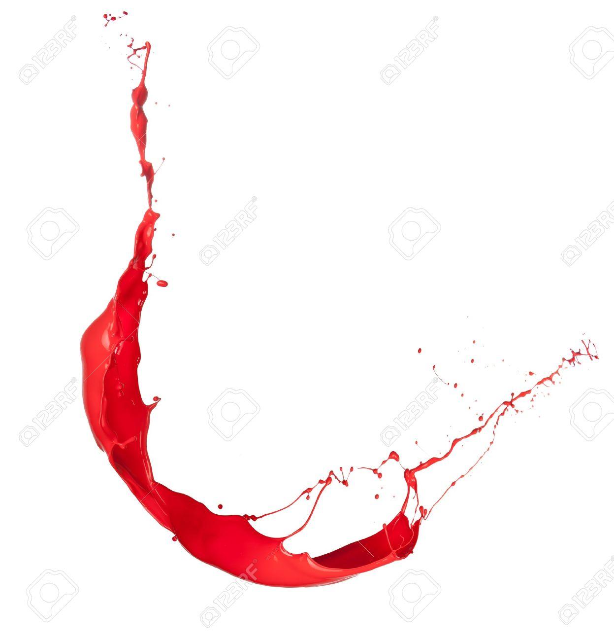 Tir Isole D Eclaboussure De Peinture Rouge Sur Fond Blanc Banque D Images Et Photos Libres De Droits Image 15006881