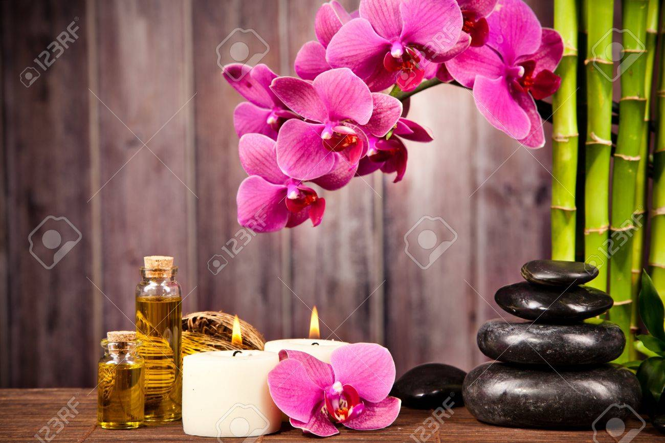 Spa still life with free space for text Stock Photo - 18367441