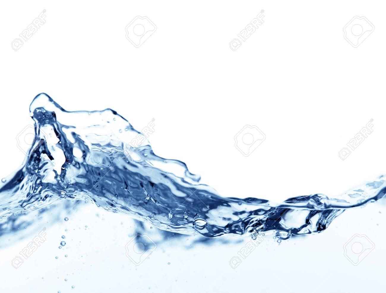 Water wave splash isolated on white - 127161433