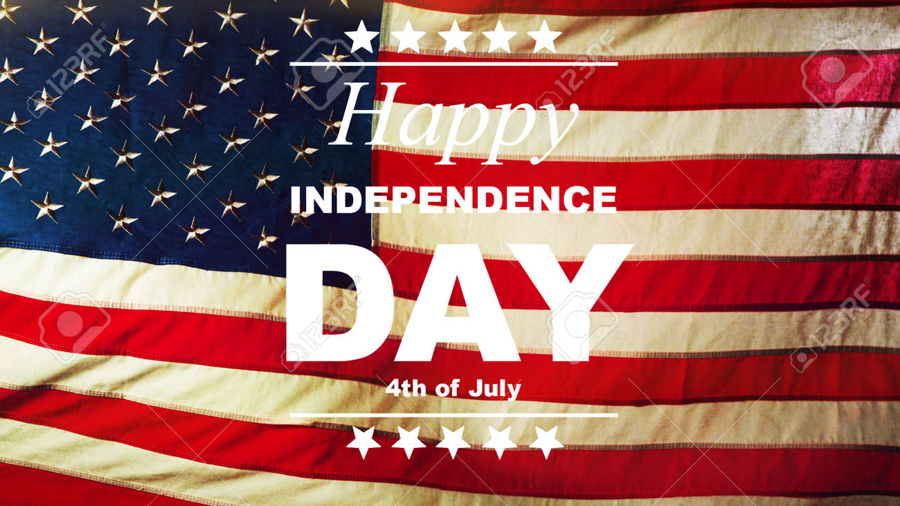 USA Independence Day concept with waving flag. This celebration takes on 4th of July. - 170263506