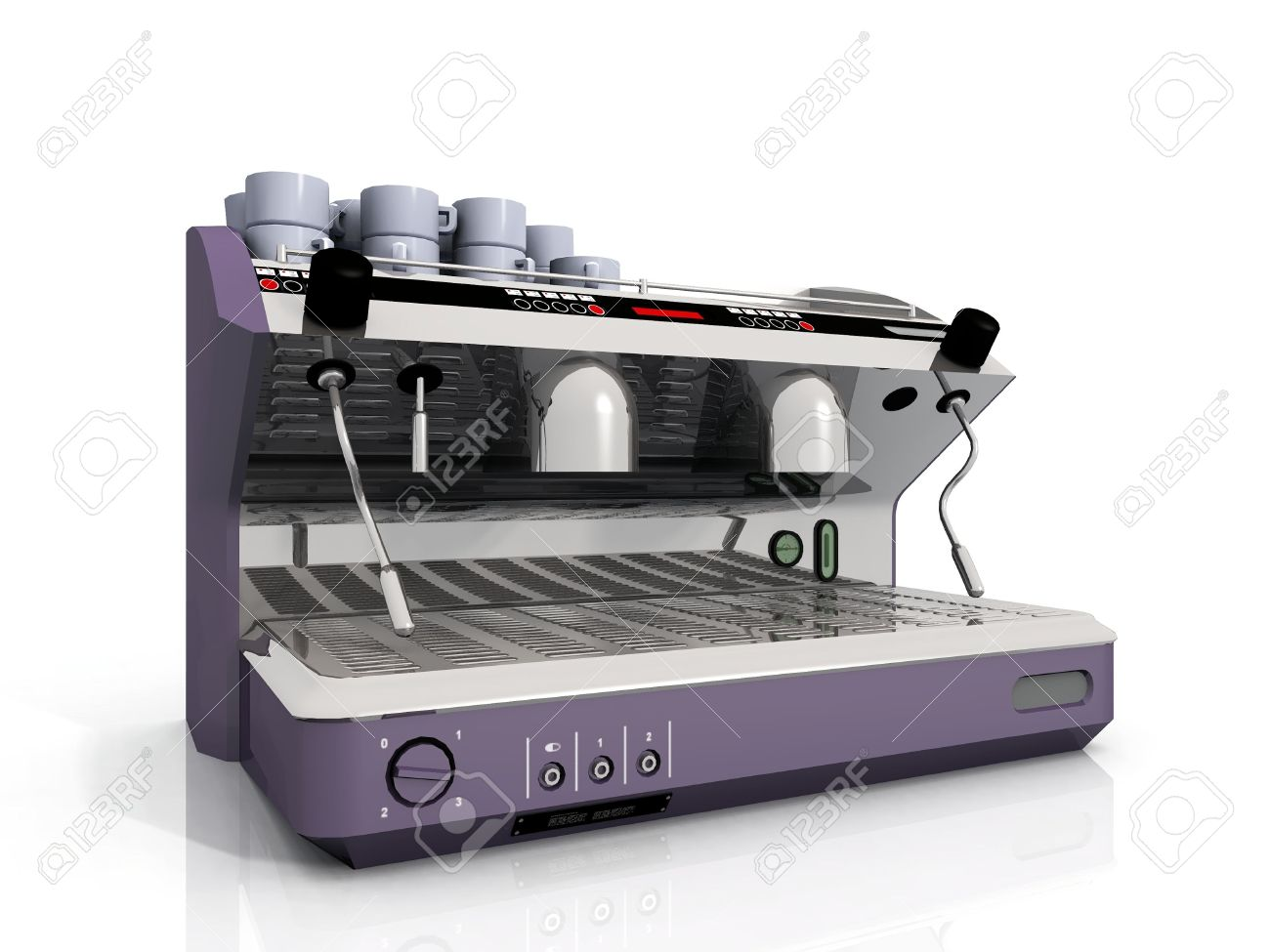 Electronic Coffee Machines Industrial one industrial coffee machine and cup stock photo picture cup