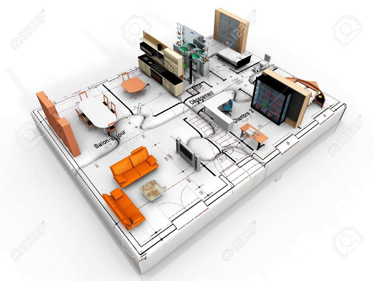the beautiful house on puzzle Stock Photo - 10760599