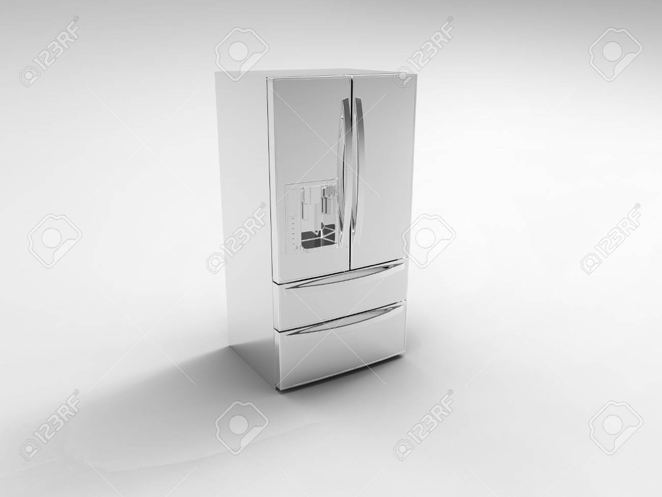 Amerikanischer Kühlschrank Schwarz : Der amerikanische kühlschrank auf einem grauen hintergrund
