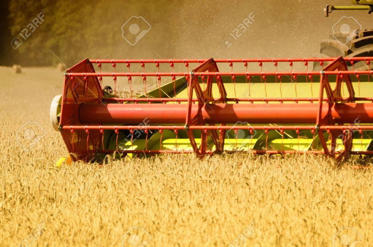 combine harvester reaps the corn Stock Photo - 15823132