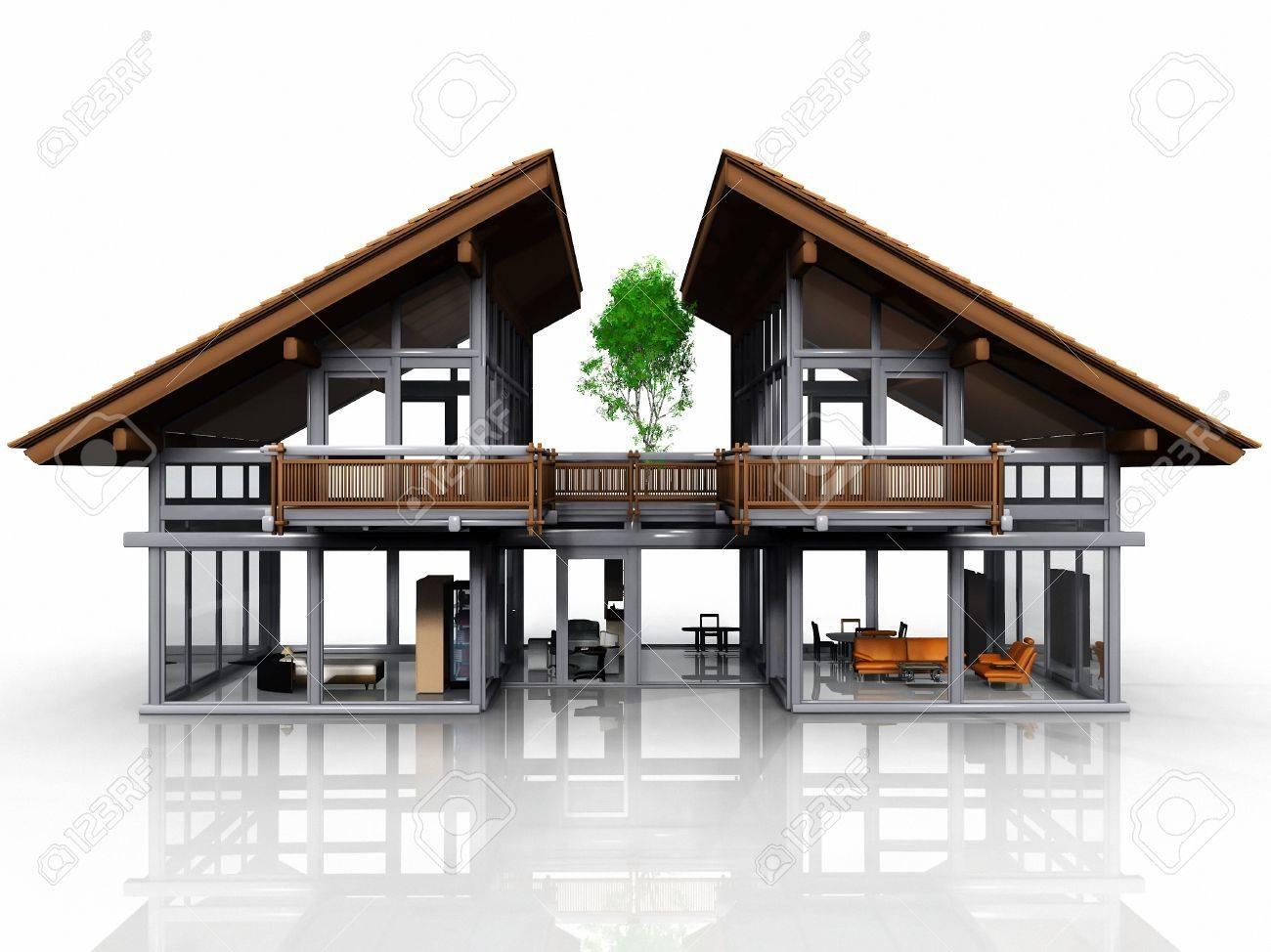 Eine Sehr Schöne Und Design-Haus Lizenzfreie Fotos, Bilder Und Stock ...