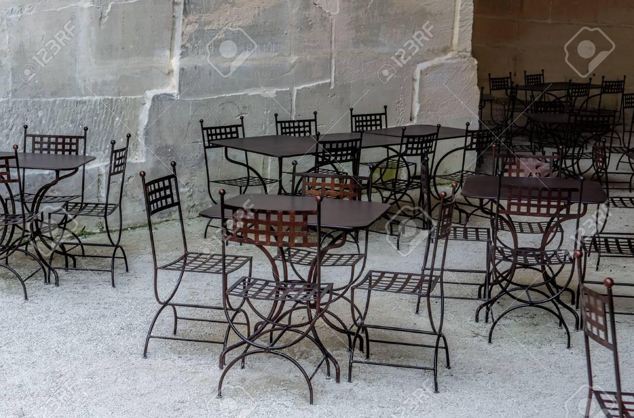 Stock photo wrought iron furniture