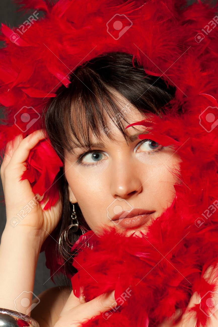 Woman in red Stock Photo - 8635846