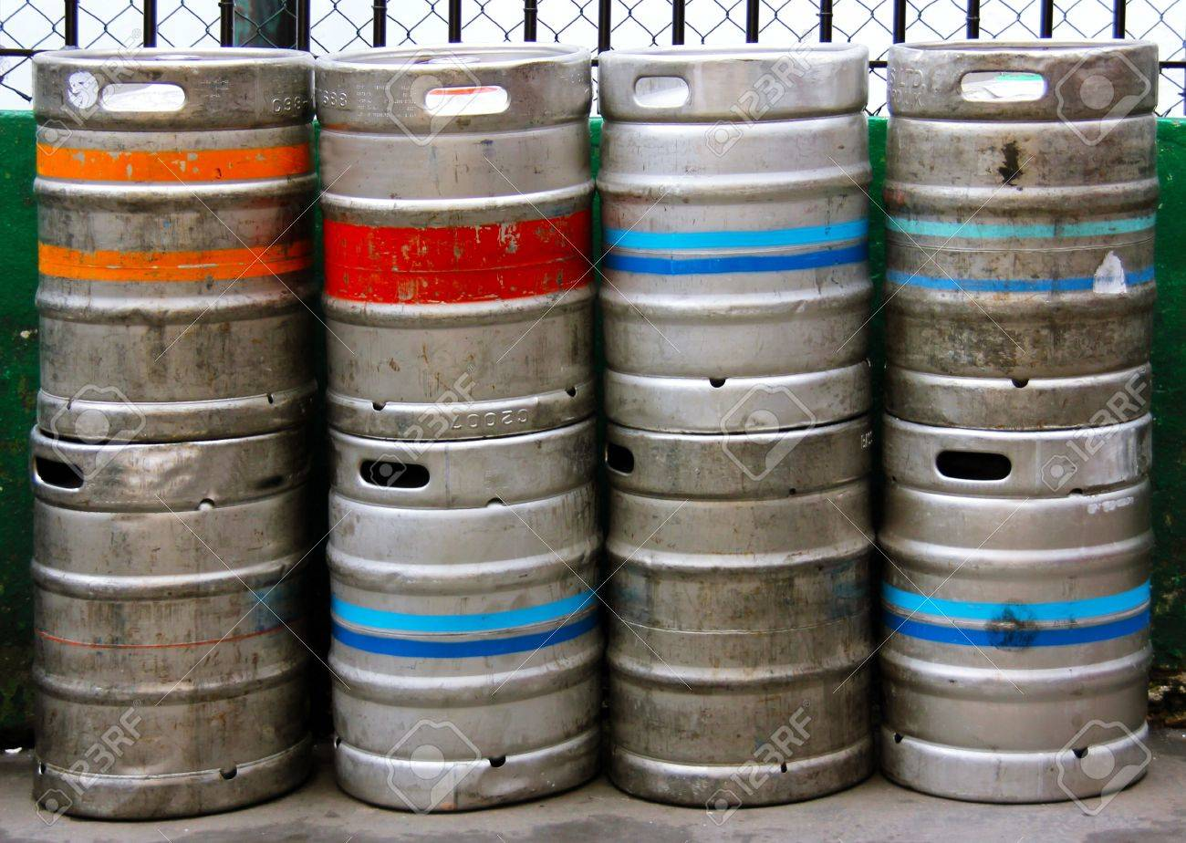 Stack of Beer Kegs one on top of another Stock Photo - 16892522
