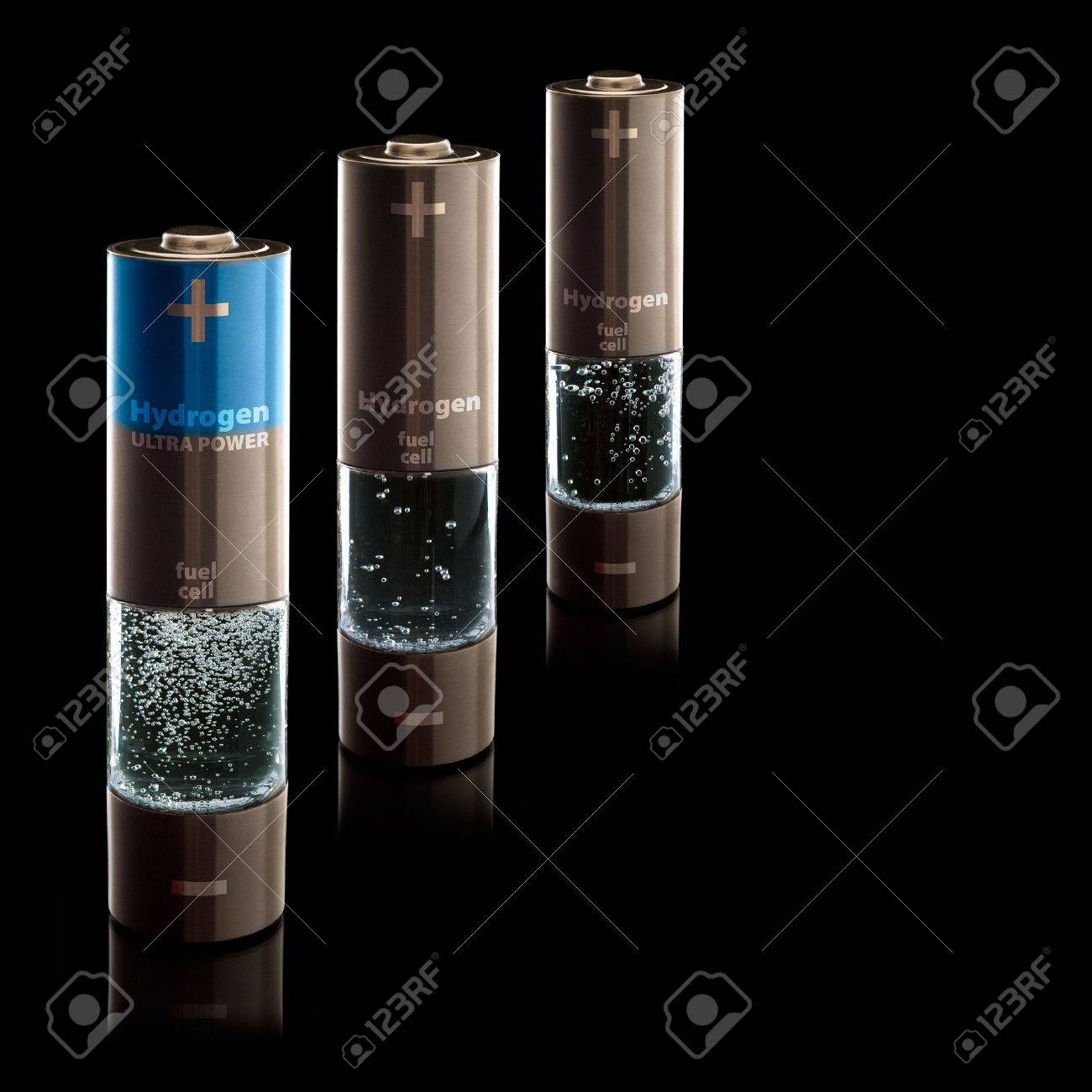 Concept for a hydrogen household fuel cells  AA batteries with