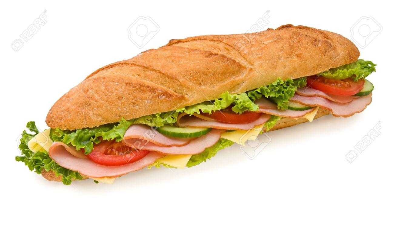 3024413-Foot-sous-marin-long-sandwich-au-jambon-fromage-suisse-laitue-tomates-et-concombres-Vue-d-en-haut-is-Banque-d'images
