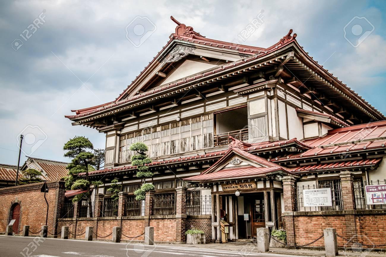 Modern japanese style house stock photo 100382421