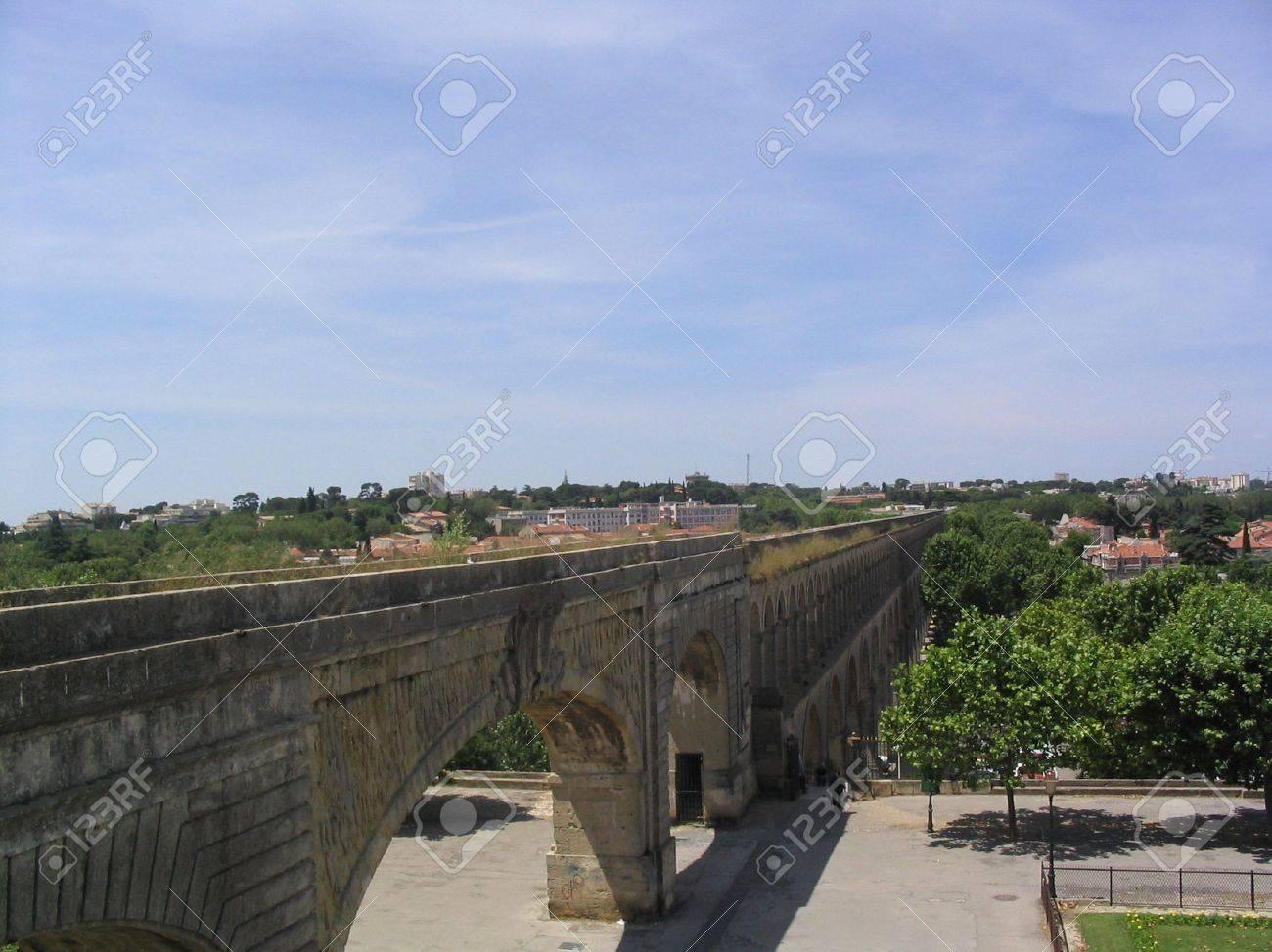 Roman aqueduct in Montpellier France - 4589374