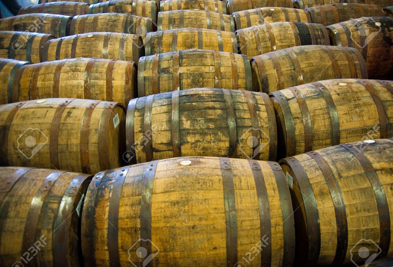 Scotch whisky barrels - 5696093