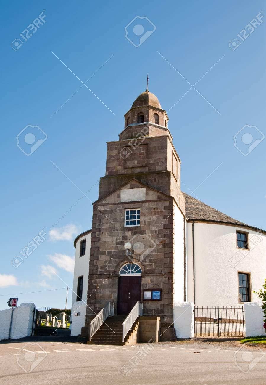 Round church on isle of Islay - 9924952