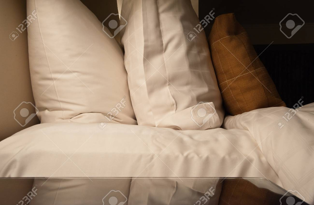 Pillows on a bed Stock Photo - 17861280
