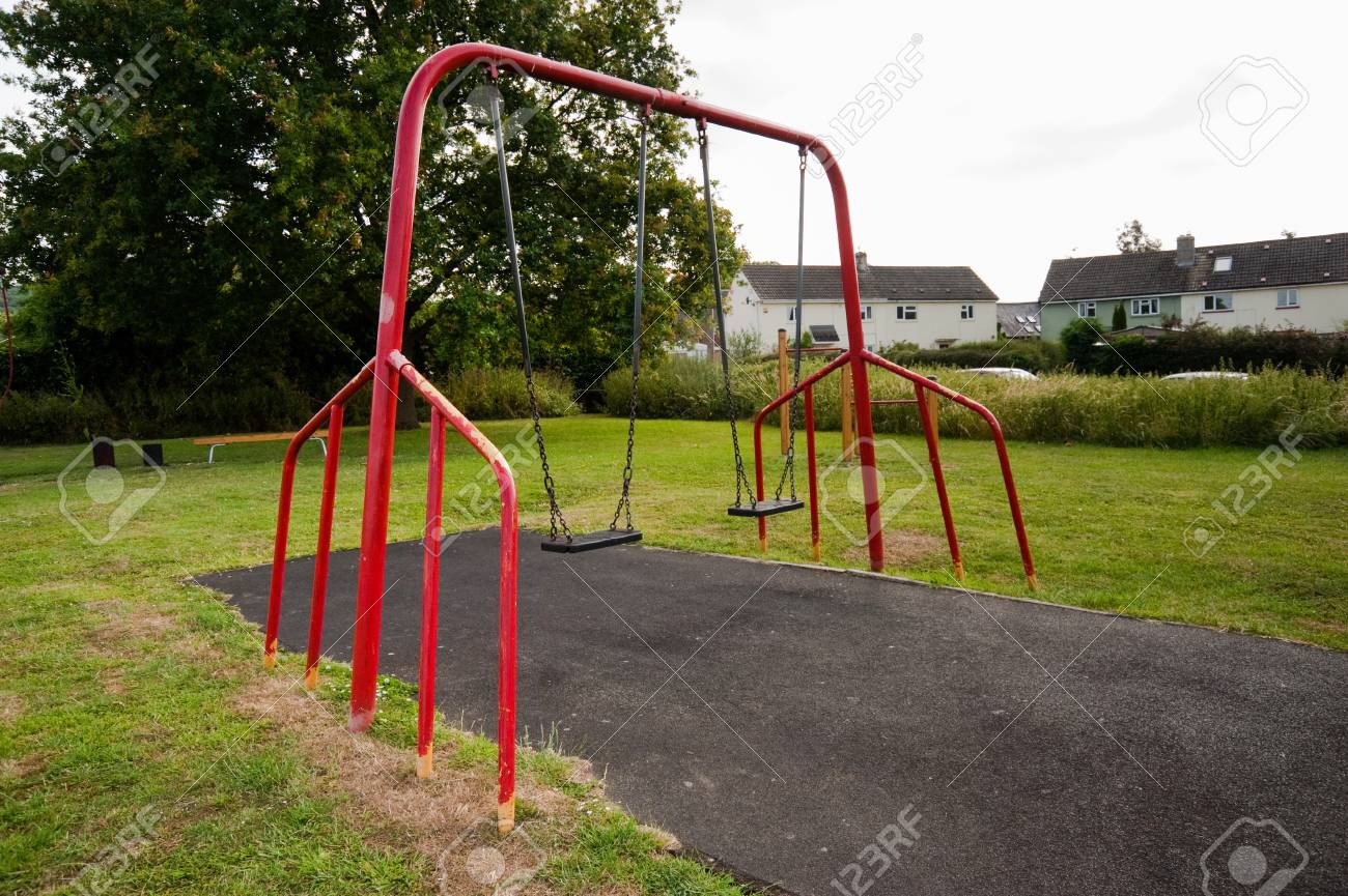 Swings on a playground - 106735752