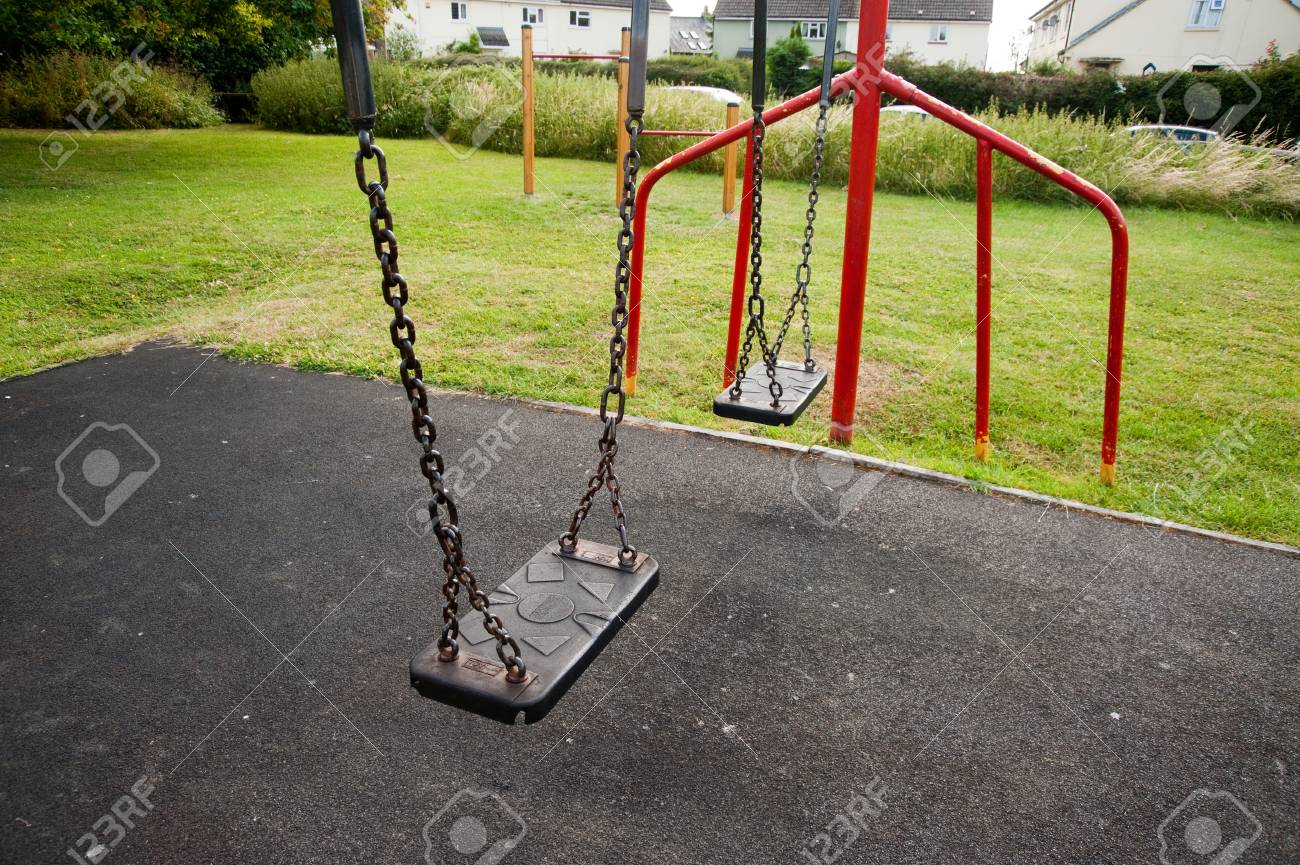 Swings on a playground - 106735754