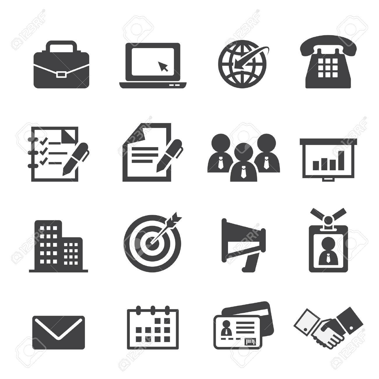 Business And Office Icon Royalty Free Cliparts Vectors And Stock