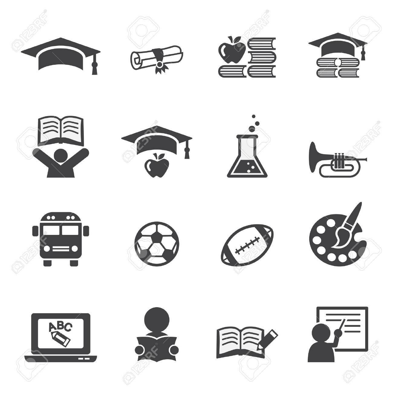 education icon set Stock Vector - 34580495