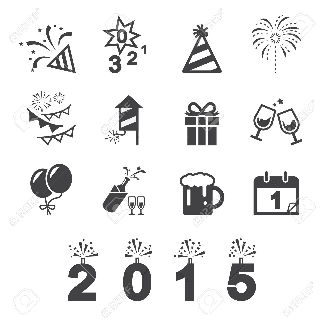 Happy New Year Icon 8