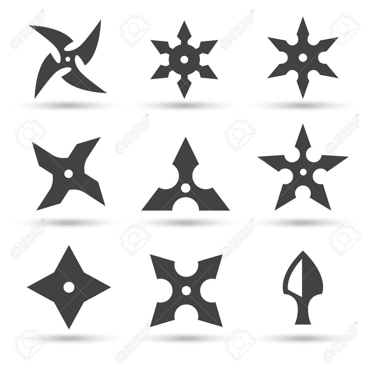 Ninja Star Icon Stock Vector