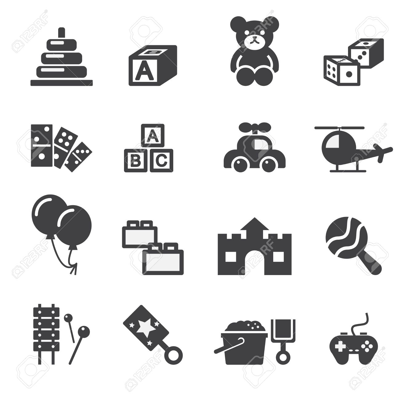 toy icon royalty free cliparts vectors and stock illustration