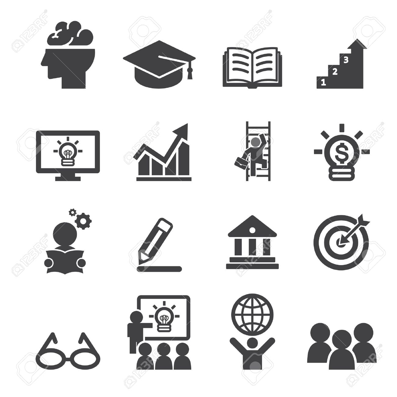 Business Education Icon Royalty Free Cliparts, Vectors, And Stock ...