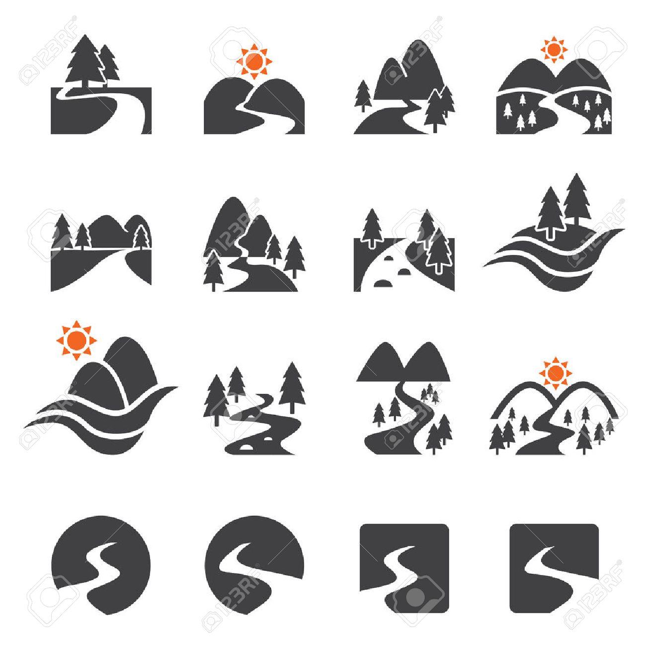 river icon set - 42910242