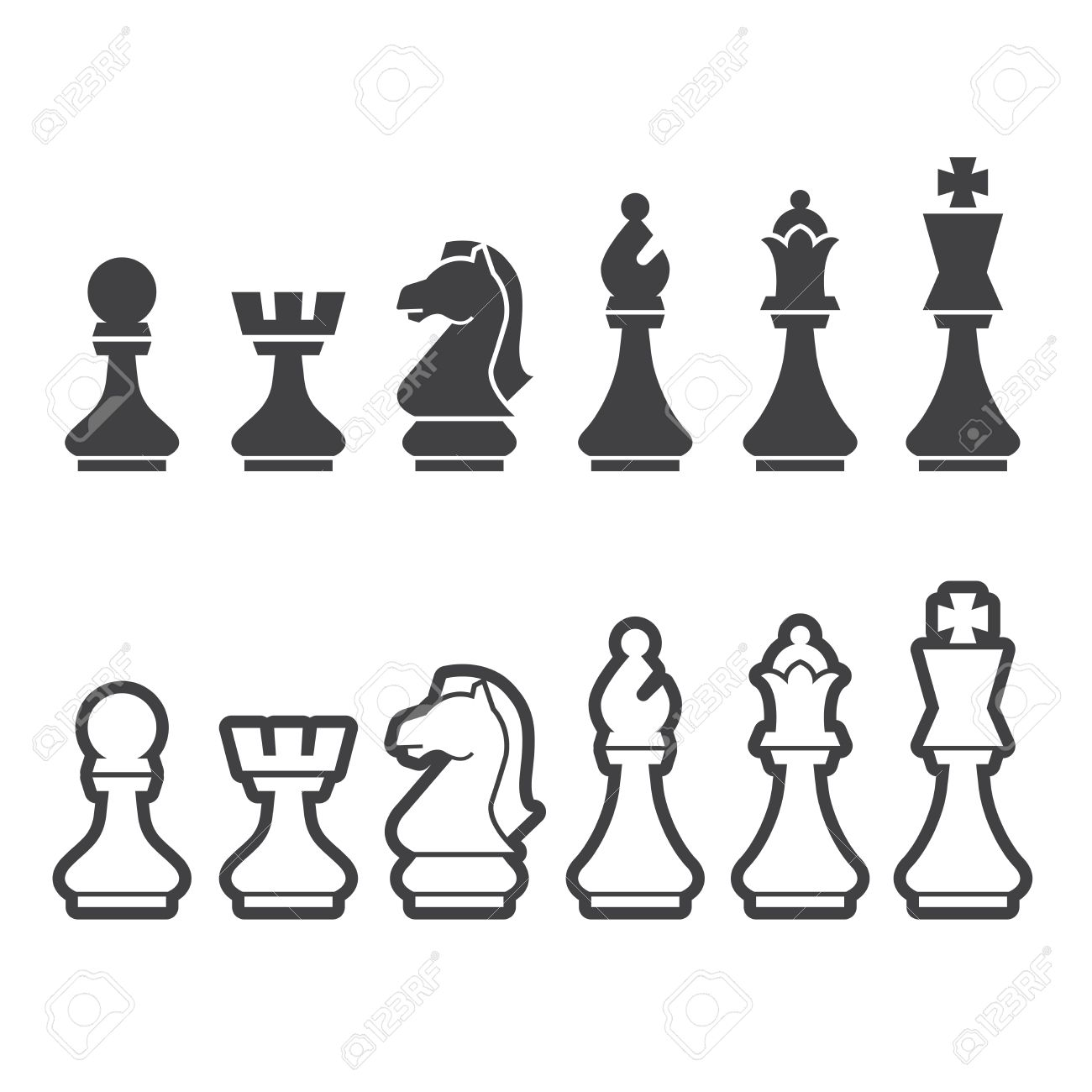 Chess Pieces Stock Photos Royalty Free Images Checkmate Diagram Puzzle From The Icon Illustration