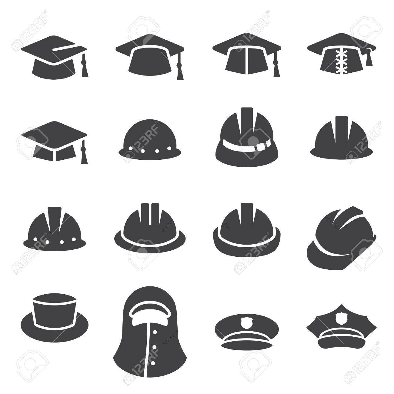 hat icon set - 45231574