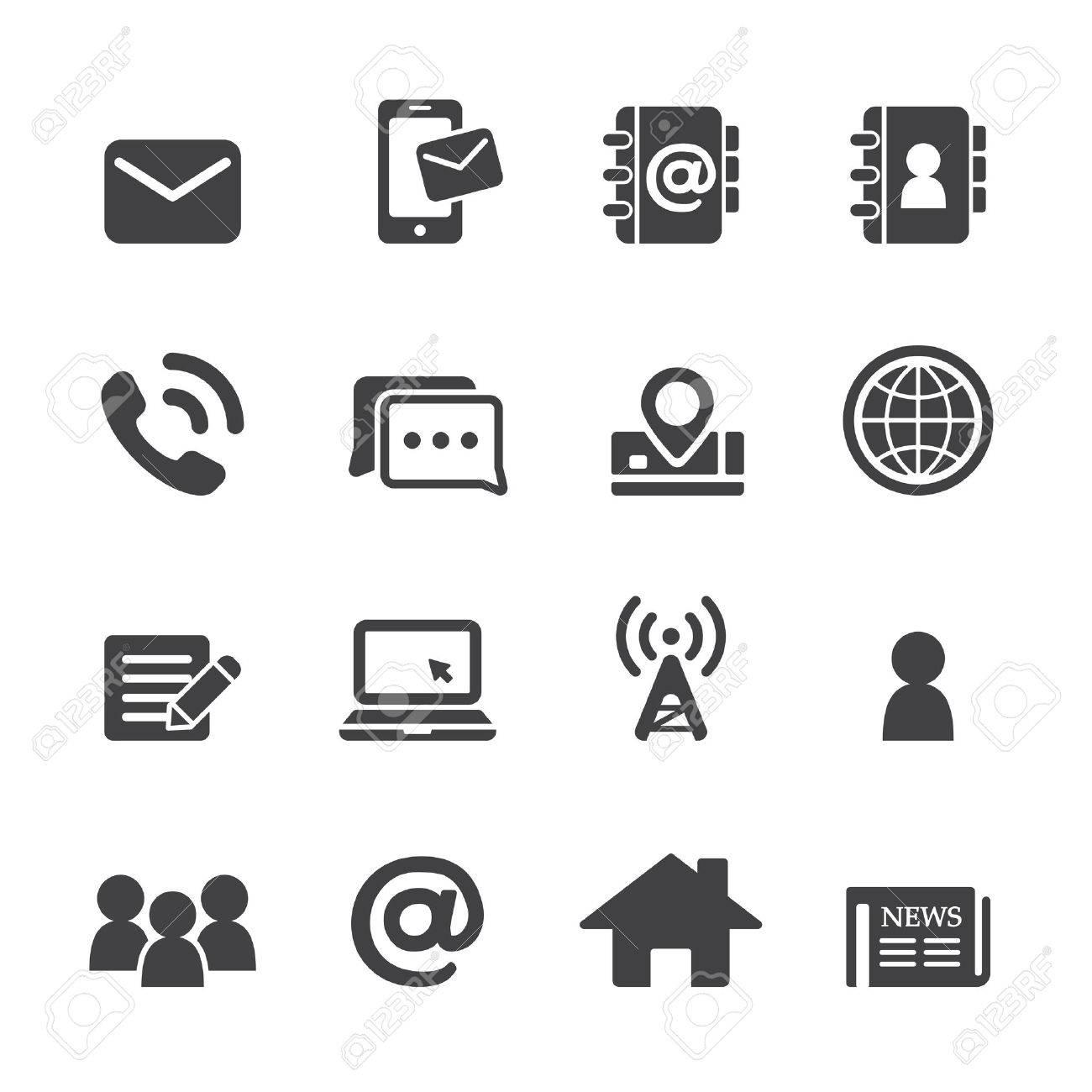 contact icon set - 47154501