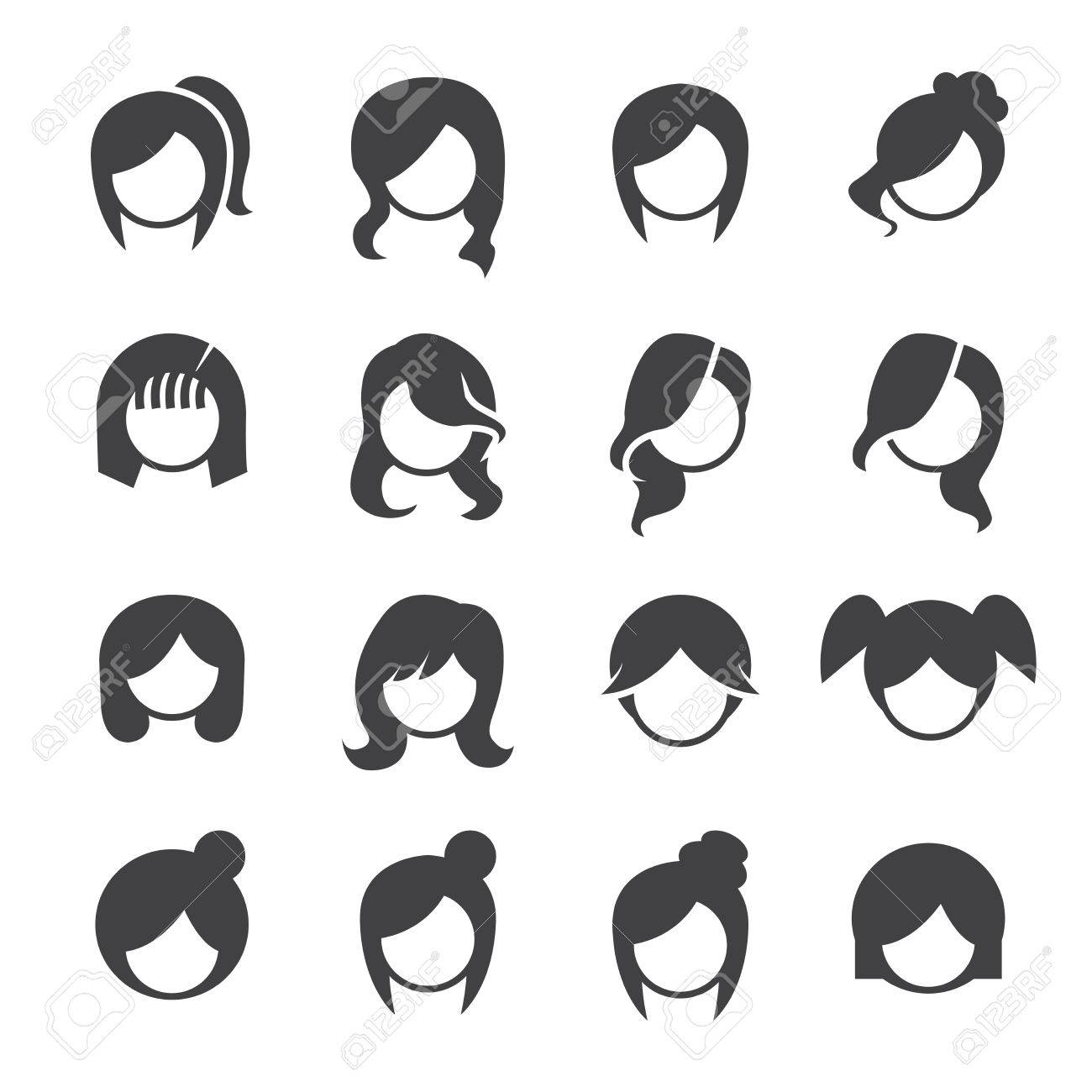 women hairstyle vector