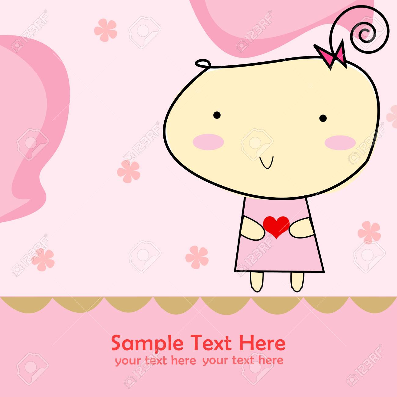 Little cute girl holding heart Stock Photo - 13895585
